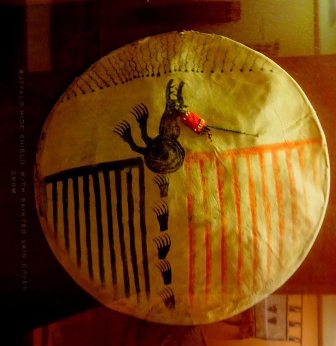Crow Nation Buffalo Shield with Flying Dragon