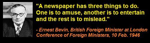 Ernest_Bevin_Newspaper_MSM_Amuse_Entertain_Mislead