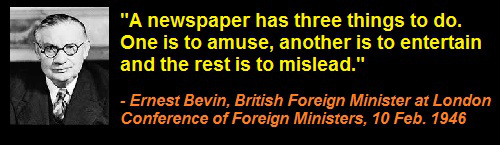Ernest_Bevin_Newspaper_MSM_Amuse_Entertain_Mislead