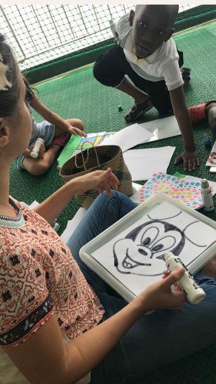Dana Perino Mercy Ships Miss Beth drawing Mickey