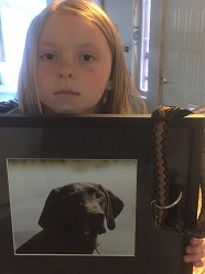 Photo of 8-year old girl who lost her dog Abby to M-44