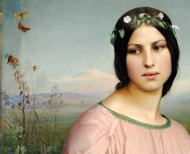 Welcome Spring, Louis Janmot (detail) 1845
