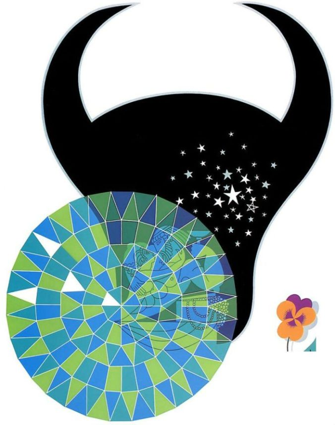 Zodiak signs by ERTE (1892 - 1990) Taurus