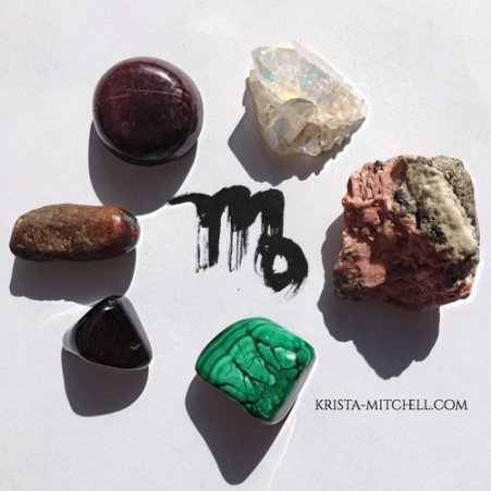 virgo full moon crystals / krista-mitchell.com