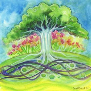 Regeneration, card 79 from the 3rd edition of the Tarot of Trees