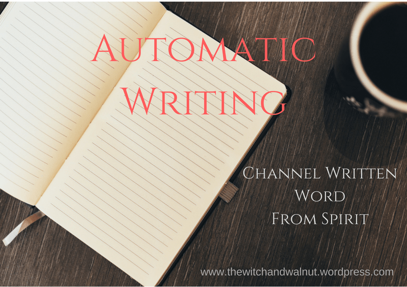 Automatic Writing! Channel Written Word FromSpirit.