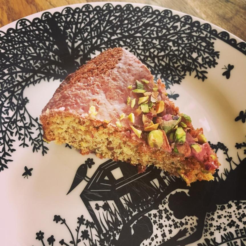 Blood Orange and Pistachio Cake (withRose)