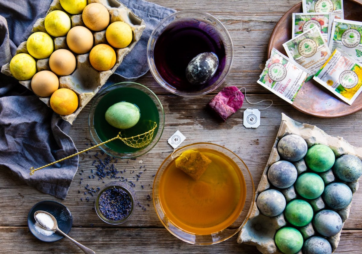 Holiday Egg Dyeing with Herbs - Traditional Medicinals