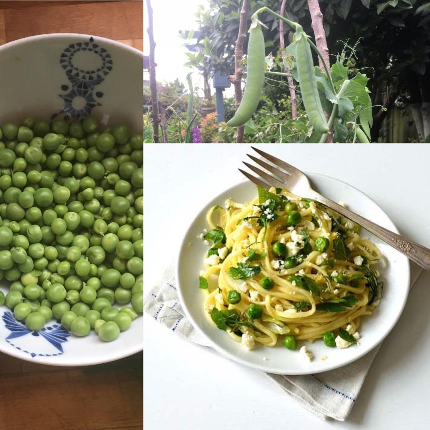 Fresh Peas, Pasta andFeta