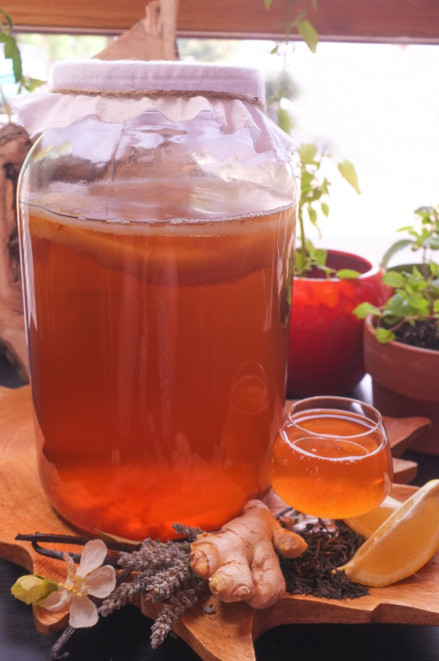Make Your Own Herb Kombucha