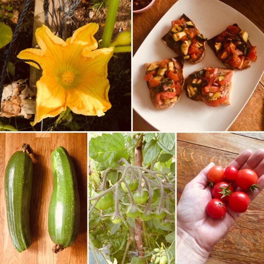 Garden Glut Tomato and CourgetteBruschetta