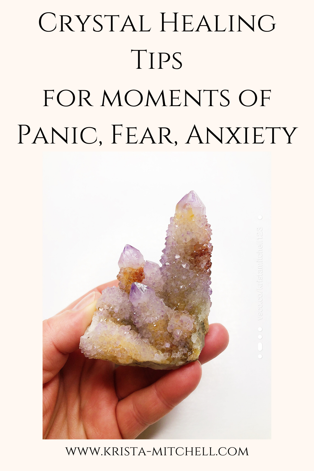 Crystal Healing Tips for Moments of Panic, Fear, Anxiety / www.krista-mitchell.com