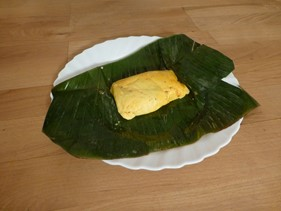 pastelles on leaf