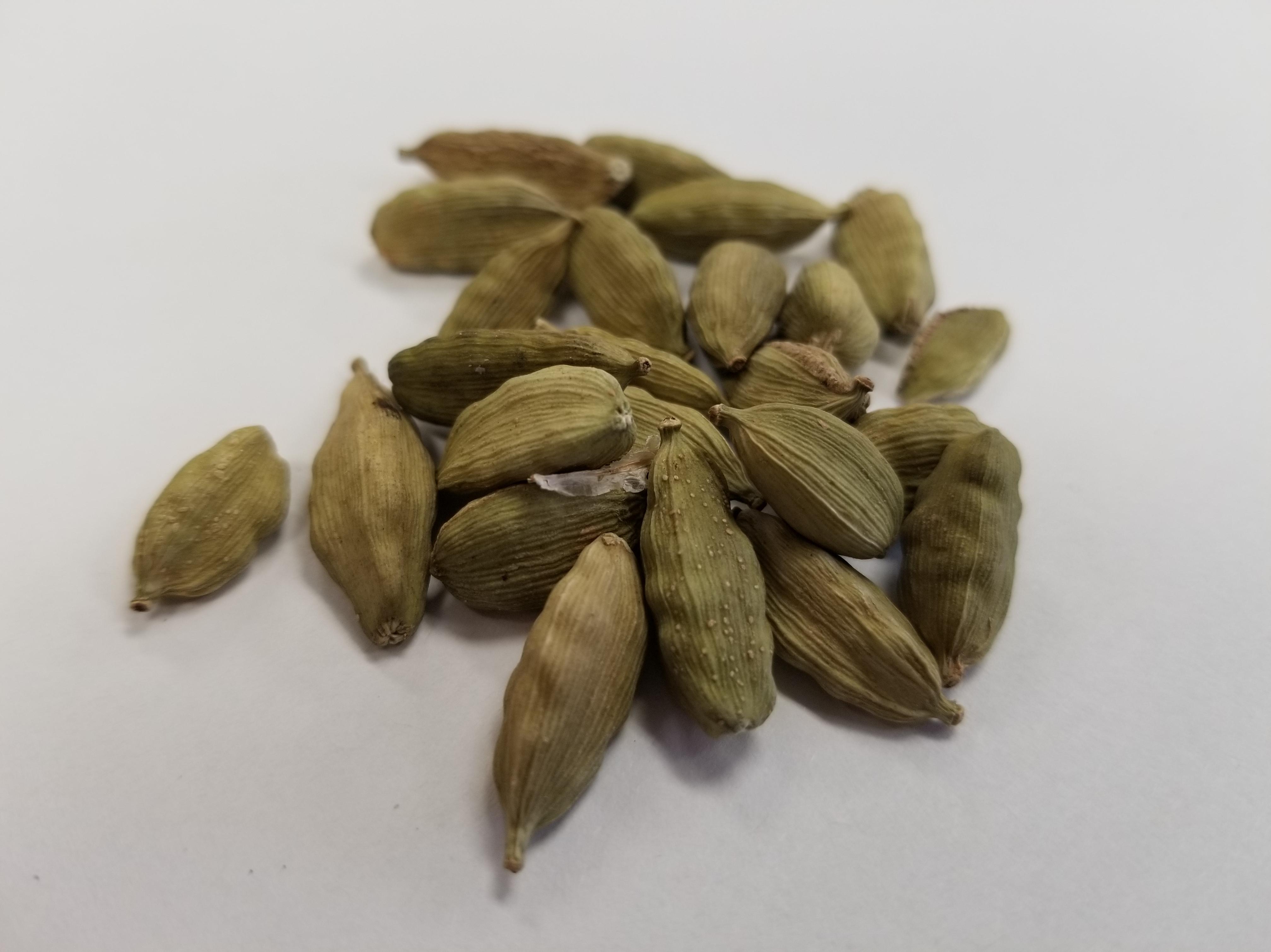 Green cardamom seed pods